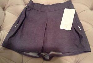 NWT Lululemon &go City Skort Skirt Short ~ Gray FRTY ~ Sz 4