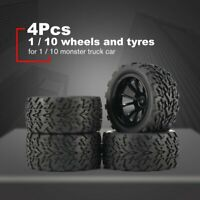 4Pcs 120mm Wheel Rim  Tires for 1/10 Monster Truck Racing RC Car Accessories PZ