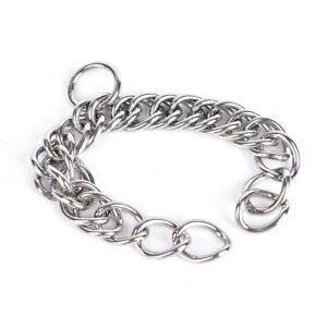 1pc stainless steel double link curb chain for horse bits pet 、^lk