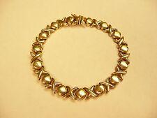14k Gold XOXO Hugs And Kisses Bracelet 7 1/2 Inch  L@@K
