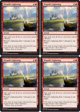 Wizard's Lightning, NM English x 4 Dominaria mtg Low International Shipping