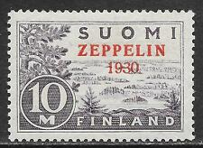 Finland stamps 1930 YV Airmail 1  ZEPPELIN  MLH  VF