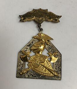 Antique Silver Medal Award Knights of Pythias Wilson Harvey FCB 1907