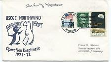 1971 USCGC Cutter Northwind WAGB-282 Deepfreeze Antarctic Polar Cover SIGNED