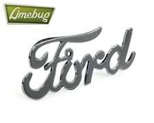 Classic Ford Script Emblem Hot Rod Badge Chrome Adhesive
