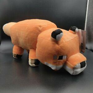"""Minecraft Fox Soft Plush Stuffed Toy Animal Mojang Jinx 20"""" Long Pillow Buddy"""