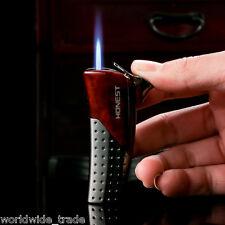 Red Metal Honest Cigarette Lighter Butane Lighter Jet Flame Cigar Pipe Lighter