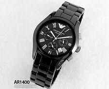 100%  Authentic EMPORIO ARMANI  Chronograph  Ceramic Watches  AR1400/AR1410