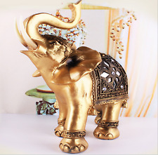Elegant Elephant Statue Feng Shui Lucky Wealth Figurine Gift Home And Decoration