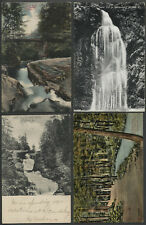 Milford PA: Lot of Four c.1906-1910s Postcards UPPER GLEN, FALLS