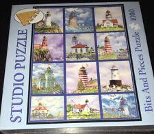 NIB SEALED Bits and Pieces Studio Puzzle Edie Hopkins Lighthouse Quilt 1000 Pc