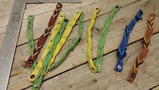 wholesale lot/ Leather breaded Bracelets 10 peaces