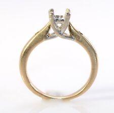 #165 Estate Vintage 14k Yellow Gold Engagement Ring Setting sz 5.5 Not Scrap