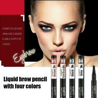 4 Tip Head Eyebrow Tattoo Fork Pen Microblading Eye Waterproof Brow M8X6