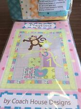 PLAYTIME BABY QUILT KIT BY COACH HOUSE DESIGNS- 42 X 54 QUILT SIZE