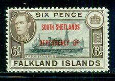 SOUTH SHETLANDS 5L6 SG#D6 MH 1944 6p KGVI Ship Discovery II Cat$21