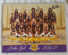 2016-17 Los Angeles Lakers Basketball Cheerleaders Laker Girls Photo Autographs