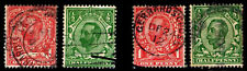 1911-12 Great Britain #151-54 Kgv Wmk 30 - Used - Fine+ - Cv$15.50 (Esp#2631)
