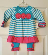 NWT BABY GIRLS STARTING OUT 2 PIECE RUFFLE SET SIZE 18 MONTHS LAST ONE!
