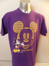 Mickey Mouse Las Vegas Vintage Velva Sheen XL Made in USA T Shirt Walt Disney