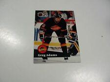 Greg Adams 1991 NHL Pro Set (French) card #243