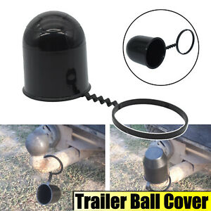 50Mm universal Tow Ball Cover Caravan Trailer Protection Car Accessories Black