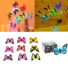 20x Butterfly LED Night Light Lamp Color Changing Luminous Beautiful Wall Decor