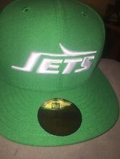 NWT NEW ERA 5950 On Field New York Jets 59FIFTY Green Fitted Hat Cap Size 6 7/8