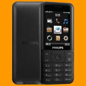 Philips E180 Black FM 85 Days Dual SIM Standby GSM 2G Quadband Mobile Cell Phone