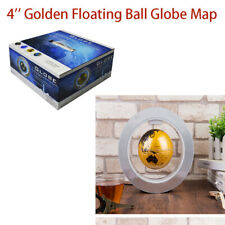 World Map Floating 4 inch Golden Mysterious World Map Decor Fashion Gift Craft