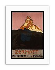 MATTERHORN MOUNTAIN ZERMATT SWITZERLAND ALPINE SNOW Travel Canvas art Prints