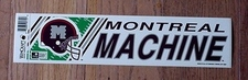 ORIGINAL WLAF 1991 STICKER DECAL WORLD LEAGUE FOOTBALL MONTREAL MACHINE UNSOLD