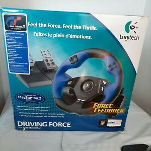 Logitech Driving Force USB Steering Wheel & Foot Pedals for Sony PlayStation 2
