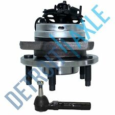 NEW 2 pc Kit - Front Wheel Hub and Bearing Assembly w/ ABS + Outer Tie Rod
