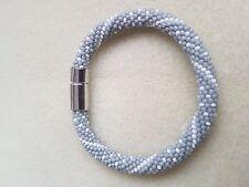 Beads bracelet, handmade , crochet, toho, preciosa, gift