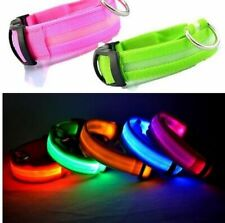 Dog Cat Collar Leash Safety Flashing Glow In Dark LED Collar Small Pets Lead