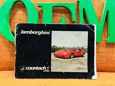 LAMBORGHINI COUNTACH LP400 S OWNERS MANUAL DRIVERS HANDBOOK (RARE ORIGINAL) OeM