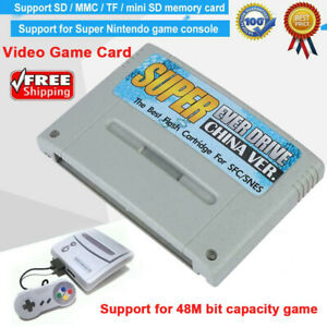 Super Everdrive Card Type Video Game for  SFC Support 32GB Memory Card