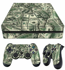 PS4 PlayStation 4 Slim Aderente Dollar Bills Benjamins + Tappetino decalcomanie