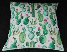 Kissenbezug, Kissenhülle 40x40 cm, Kakteen, Handarbeit, Panama-Dekokissen,Kaktus