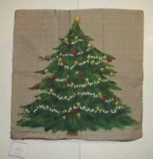 """Pottery Barn Painted Tree Christmas Holiday Multi Pillow Cover 20"""" #1265"""