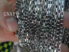 GNAYY 5meter Lot stainless steel Long Box chain Jewelry Finding Marking 3mm DIY