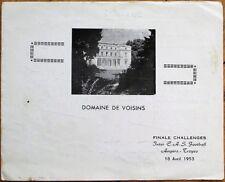 Football Club 1953 French Banqwuet Menu - Angers-Troyes