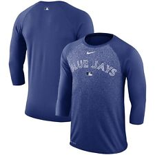 Men's Toronto Blue Jays Royal AC Legend 3/4-Sleeve Raglan Shirt Baseball Small