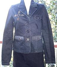S Jaded by Knight Black Jacket Vintage Rare Swarovski Crystal by Mike Amari