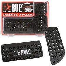 RBP Black Powder Coated Aluminum Brake Gas Pedal Pads A/T for Chevy Silverado