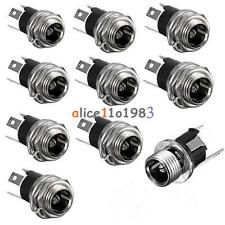 10PCS DC Power Supply Jack Socket Female Panel Mount Connector 3-Pin 5.5 x 2.1mm