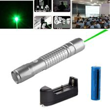 Visible Beam 5mw 532nm 30Miles Powerful Green Laser Pen Pet Toy+Battery+Charger