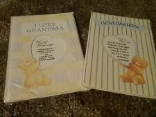 American Greetings Forget Me Not Photo Cards Lot of 2  I Love Grandma New