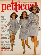Geraldine Chaplin HAYLEY MILLS Terry de Havilland vtg fashion PETTICOAT magazine